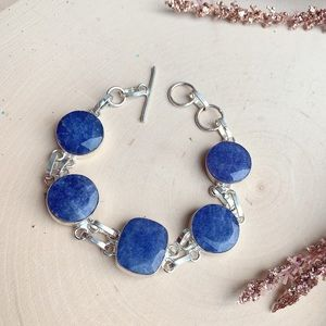 Jewelry - Sapphire Natural Stone Sterling Silver Bracelet